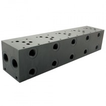 """6 Station Ports: P 3/4"""" & T 1"""", A & B 1/2"""" BSPP, Cetop 5 Steel Manifold & Auxiliary Plate"""