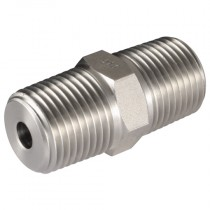 """3/8"""" NPT Male/Male Extended Body Hydraulic Tooling Fitting"""