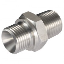 """1/4"""" BSPP x BSPT Male/Male Hydraulic Tooling Fitting"""