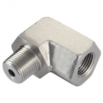 """3/8"""" NPT Elbow Male/Female Hydraulic Tooling Fitting"""