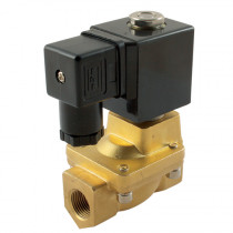 """3/8"""" BSPP 24V DC 2/2 Normally Open Pilot Operated General Purpose Solenoid Valve"""