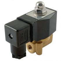 """1/4"""" BSPP 24V DC 2/2 Normally Open Direct Acting General Purpose Solenoid Valve"""