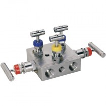 """1/2"""" NPT Pipe to Pipe, 5 Valve, Stainless Steel  Manifold Valve"""