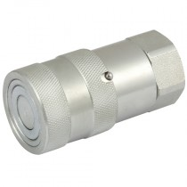 """1/4"""" x 1/4"""" BSPP Steel Flat Face ISO 16028 High Pressure Coupling with Nitrile Seals"""