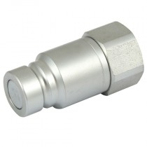 """1/2"""" x 1/2"""" BSPP Steel Flat Face ISO 16028 High Pressure Plug with Nitrile Seals"""