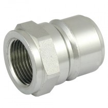 """1"""" BSPP Manual Locking Steel T-Series Quick Release Plug with Pressure Eliminator and Nitrile Seals"""