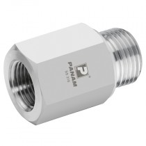 """3/8"""" x 1/4"""" BSPP 10,000 psi, S/S Male x Female Straight Reducers"""