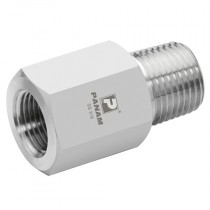 """1/2"""" x 3/8"""" NPT 10,000 psi, S/S Male x Female Straight Reducers"""