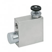 """3/8"""" 3 Port Flow Control, Excess to Tank, Threaded Hydraulic Valve"""