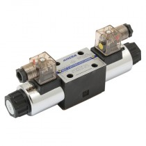 110v AC 3 Position, P & T Connected A & B Blocked, Spring Centred, CETOP 3, Double Solenoid Directional Control Valve
