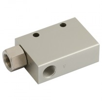"""1/4"""" BSPP x 54mm Suction, 100mm Consumption, 90.6 Max Pressure KCV Vacuum Ejector, Low Supply"""