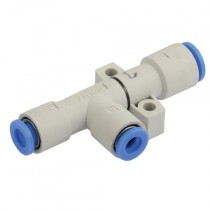 6x6x6mm x 20LPM - 23 L/Min Consumption, 48 Max Pressure, KZH One Touch Push-In, High Flow Vacuum Ejector