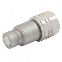 """3/4"""" BSPP PLK4 Series, ISO12.5 16028 Flat Face Plug, Connect Under Pressure"""