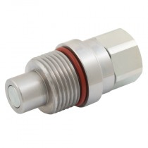 """1/4"""" BSPP PST4 Series, Screw to Connect Flat Face Plug"""