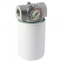 """1"""" BSPP x 25UM - 35LPM In-line Suction, Spin-On Filter Assembly"""